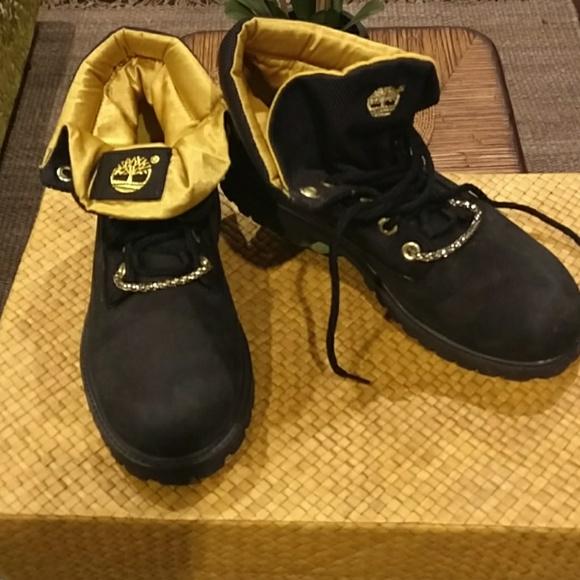 Proverbio Lobo con piel de cordero corto  Timberland Shoes | Timberla Black And Goldchain Ankle Boots | Poshmark